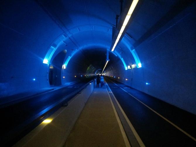 Le tunnel mode doux de Lyon Croix Rousse a ouvert ses portes en décembre 2013.