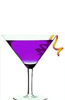 par rapport au Cosmopolitan originale, dans un Purple Cosmo, on remplace le triple sec par du curaçao. Mouais...